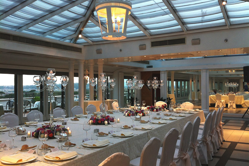 Getting married under a skylight