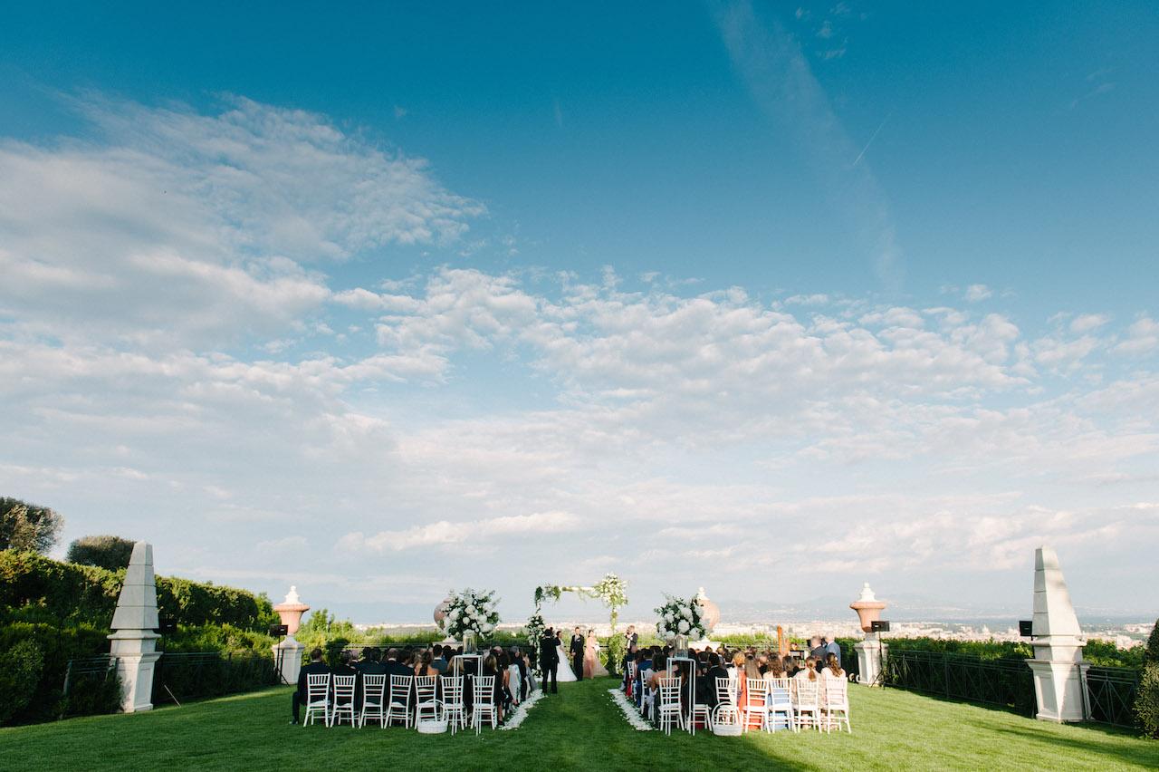 Cerimonia civile sulla terrazza di Villa Miani