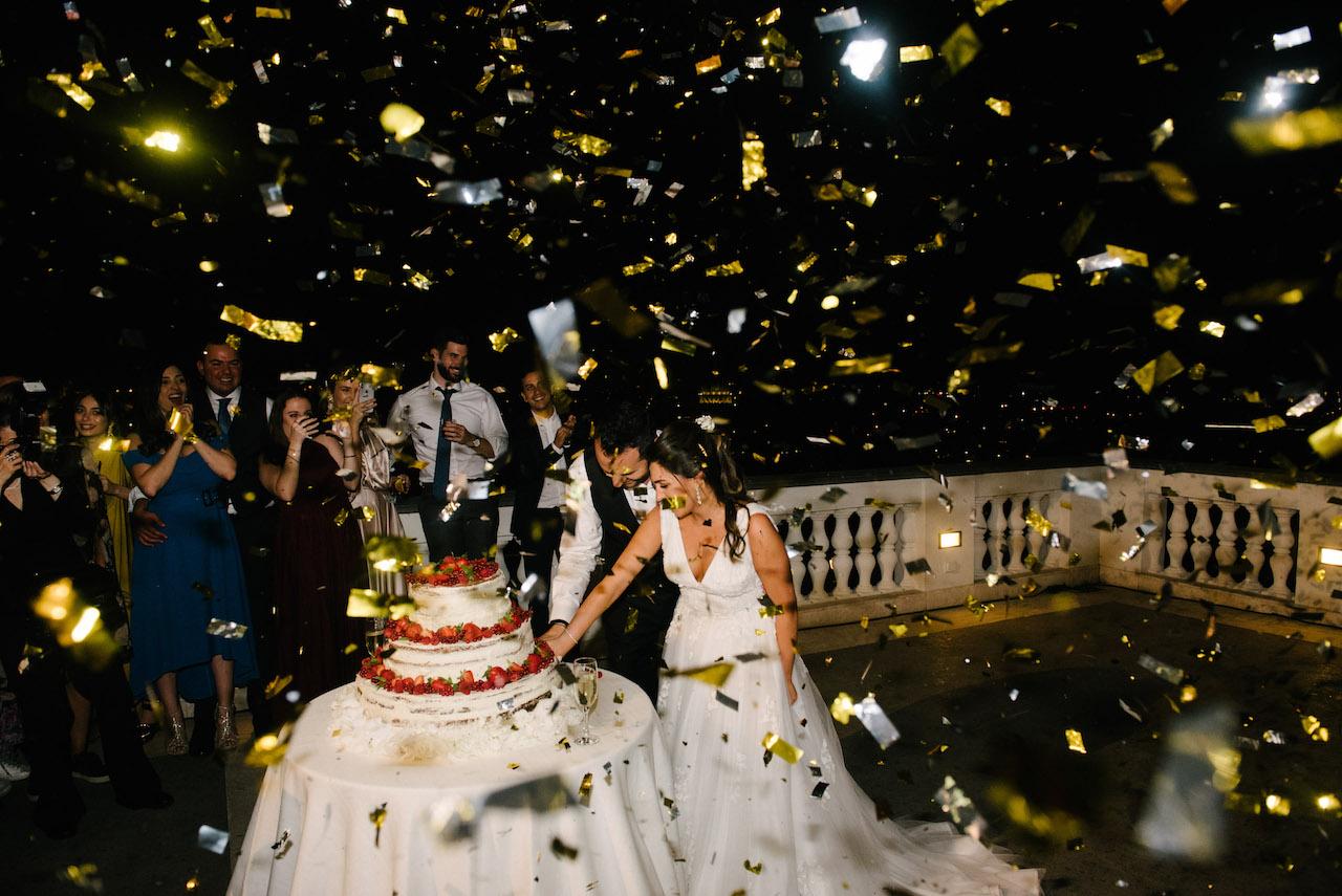 Wedding reception open bar