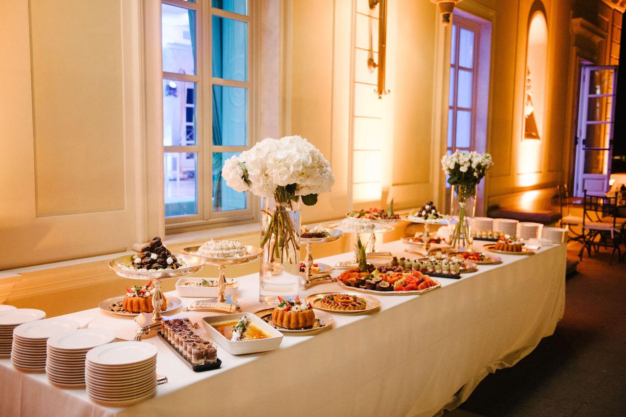 Wedding reception dinner food