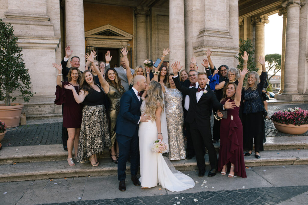 Intimate wedding in Rome