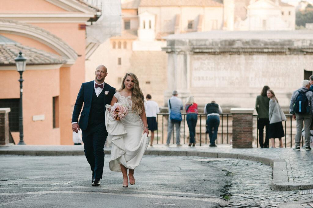 Wedding couple Rome