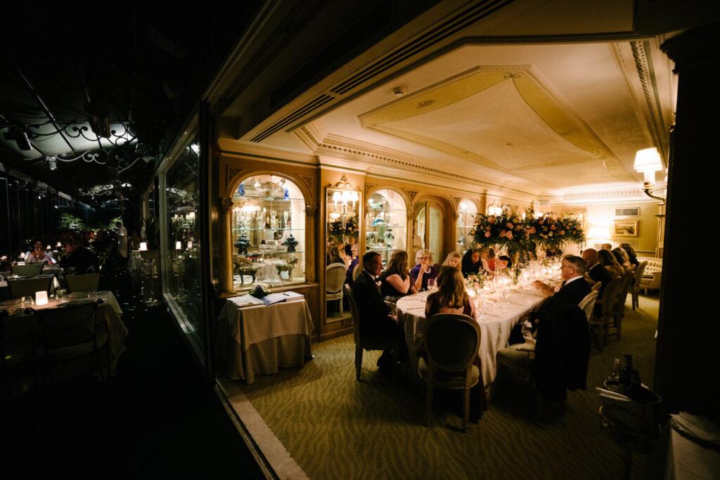 Intimate wedding dinner Rome